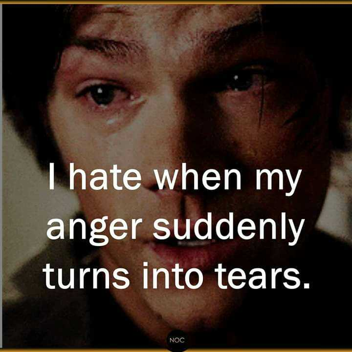 quetations - I hate when my anger suddenly turns into tears . NOC - ShareChat
