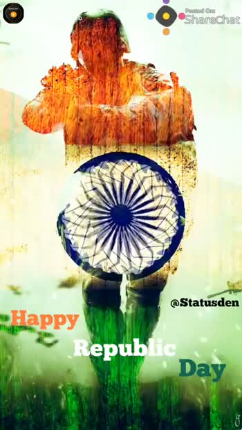 స్వాతంత్ర  దినోత్సవ శుభాకాంక్షలు - Pasted One Sharechat @ Statusden Happy Republic Day Pested me Sharechat @ Statusden mHappy Republic Dav  - ShareChat