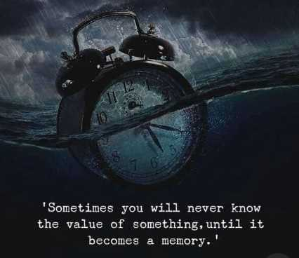 #quotes - Sometimes you will never know the value of something , until it becomes a memory . ' - ShareChat