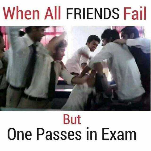 comedy - When All FRIENDS Fail But One Passes in Exam - ShareChat