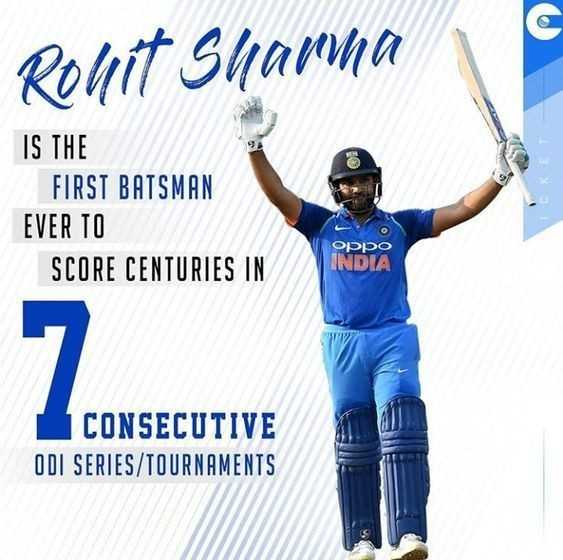 IND vs WI 4th ODI - Rohit Sharna IS THE FIRST BATSMAN EVER TO SCORE CENTURIES IN ICKET OPPO INDIA CONSECUTIVE ODI SERIES / TOURNAMENTS - ShareChat