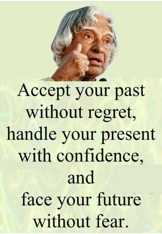 உலக திக்குவாய் விழிப்புணர்வு - Accept your past without regret , handle your present with confidence , and face your future without fear . - ShareChat