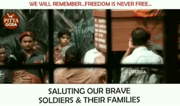 salute indian army - WE WILL REMEMBER . . . FREEDOM IS NEVER FREE . . . PITTA GODA SALUTING OUR BRAVE SOLDIERS & THEIR FAMILIES WE WILL REMEMBER . . . FREEDOM IS NEVER FREE . . . PITTA GODA INTPLAY SCHO ÞITTAGODA SALUTING OUR BRAVE SOLDIERS & THEIR FAMILIES - ShareChat