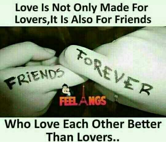 true friendship - Love Is Not Only Made For Lovers , It Is Also For Friends FOREVER FRIENDS FEEL ANGS Who Love Each Other Better Than Lovers . . - ShareChat