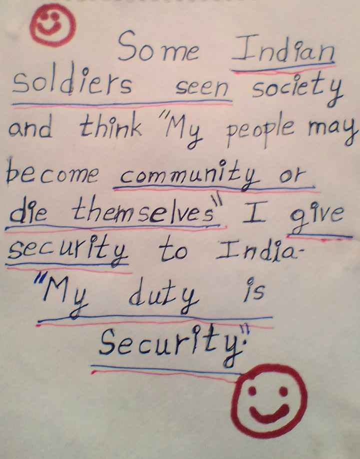 👯♀️ స్నేహితుల అడ్డా - ☺ Some Indian soldiers seen society and think My people may become community or die themselves I give security to India My duty is Security - ShareChat