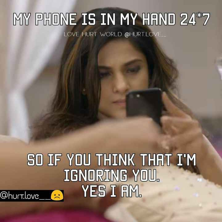 I love jennifer winget - MY PHONE IS IN MY HAND 24 * 7 LOVE HURT WORLD @ HURT . LOVE _ _ SO IF YOU THINK THAT I ' M IGNORING YOU . @ hurt . love _ _ O YES I AM - ShareChat
