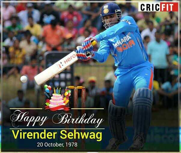 happy Birthday sehwag - ShareChat