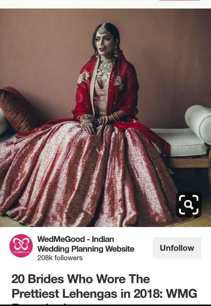 📷 Wedding Photography - WedMeGood - Indian Wedding Planning Website 208k followers Unfollow WedMeGood 20 Brides Who Wore The Prettiest Lehengas in 2018 : WMG - ShareChat