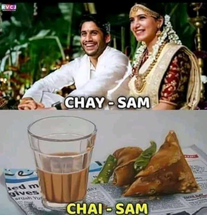 nagachitanya and samantha 1st anniversary - CHAY - SAM gives CHAI - SAM - ShareChat
