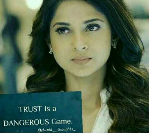 cute - TRUST is a DANGEROUS Game . @ stupid _ _ thoughts - ShareChat