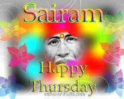 om sai ram - Sairam Happy Thursday hivill , - ShareChat
