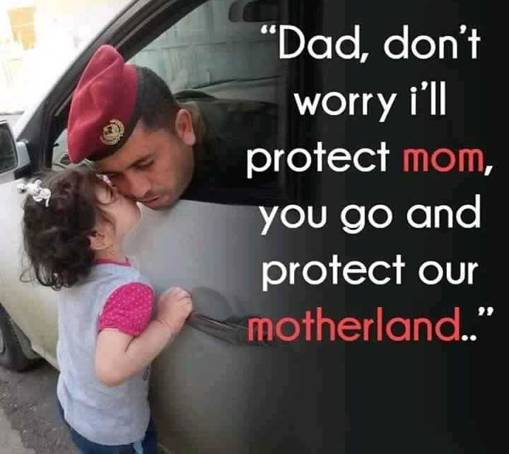 """indian army - """" Dad , don ' t worry i ' ll protect mom , you go and protect our motherland . . - ShareChat"""