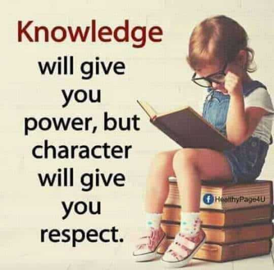 छोटे सुरवीर - Knowledge will give you power , but character will give you Healthy Page40 respect . - ShareChat