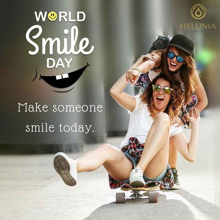 world's smile day - WORLD HYLUNIA Smile DAY Make someone smile today . - ShareChat
