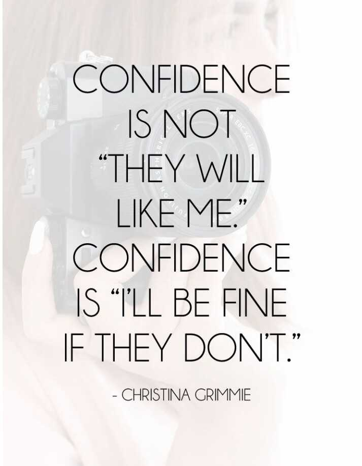 "வாழ்க்கை 🌿🌿🌿 - CONFIDENCE IS NOT "" THEY WILL LIKE ME . "" CONFIDENCE IS WILL BE FINE IF THEY DON ' T . "" - CHRISTINA GRIMMIE - ShareChat"