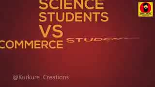science students v/s commers students - SUBSCRIBE TO TROLL GURU YOUTUBE TR CHANNEL RU ಟೋಲ್ ಗುರು - ShareChat