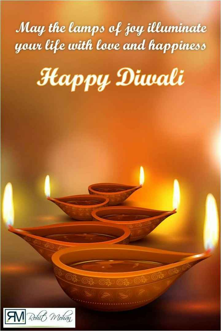 deepavali - May the lamps of joy illuminate your life with love and happiness Happy Diwali M Rohit Mohan - ShareChat
