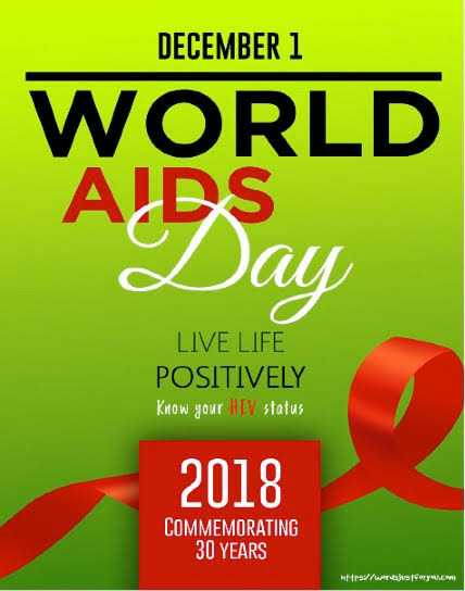 🎗️ વિશ્વ એઇડ્સ દિવસ - DECEMBER 1 WORLD AIDS Day LIVE LIFE POSITIVELY Know your HIV status 2018 COMMEMORATING 30 YEARS W trs / words foryou . com - ShareChat