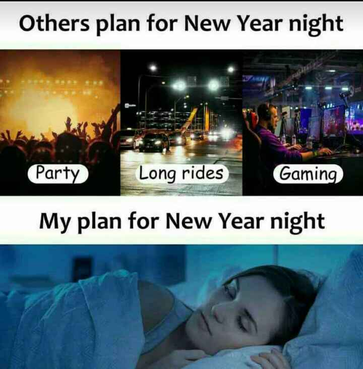 Bye Bye 2018 - Others plan for New Year night Party Long rides Gaming My plan for New Year night - ShareChat