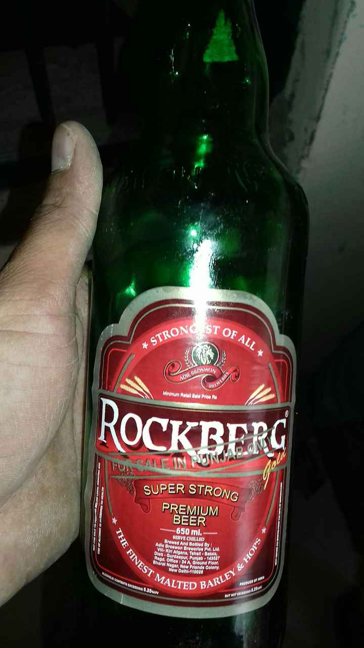 tutti yaari - ONG ST O OF ALL STRON Minimum Retail Bale Prioe R ROCKBER IN SUPER STRONG PREMIUM BEER -650 ml.- BRVB CHILLBD Brewed And Bottled By I Adie Broswon Drowerlos Pvt, Lid ll Kiri Algana, Tehall Datal t ourdaupur, Punjab 143027 gd. Offlee124A, Oround Floor Dharat Nagr, Now Prionde Colony S2Now Dolhl 110026 MALTED B BARLEY& RODUON INDI T NOT ENGUAnvow - ShareChat