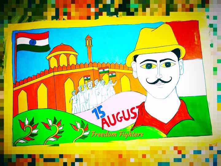welcome august - Y AUGUS Freedom Fighters - ShareChat