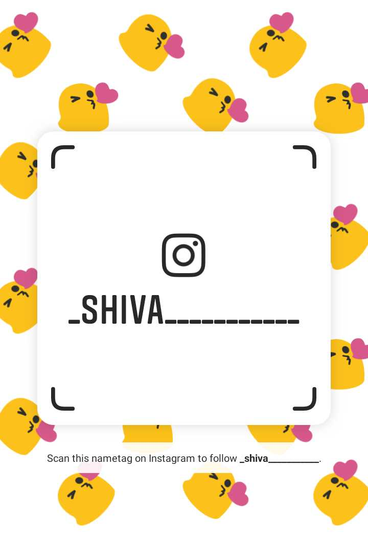follow me on instagram - - SHIVA . Scan this nametag on Instagram to follow _ shiva _ - ShareChat