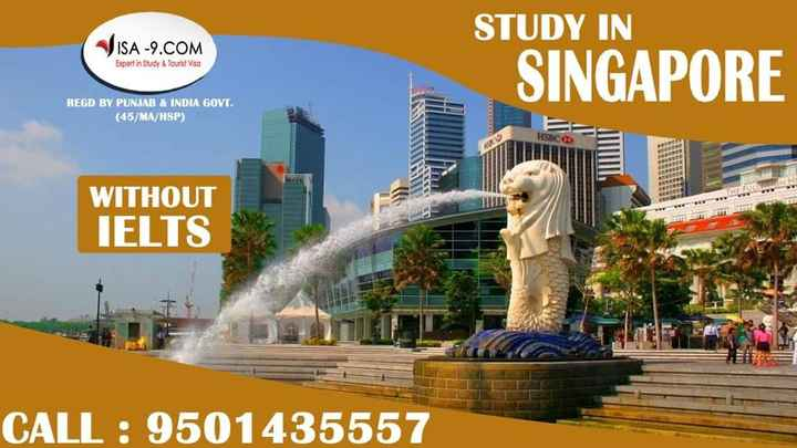 education courses - VISA - 9 . COM STUDY IN SINGAPORE Expert in Study & Tourist Visa REGD BY PUNJAB & INDIA GOVT . ( 45 / MA / HSP ) HSBC WITHOUT IELTS CALL : 9501435557 - ShareChat