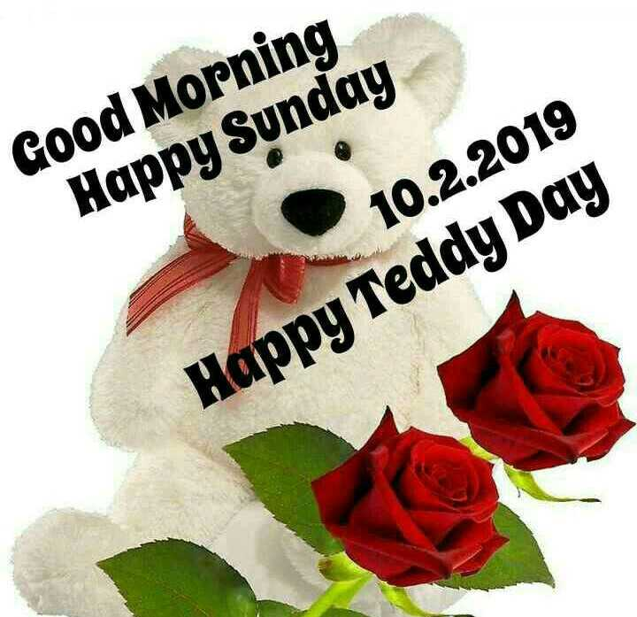 💕entepage💕 - Good Morning Happy Sunday 10 . 2 . 2019 Happy Teddy Day - ShareChat
