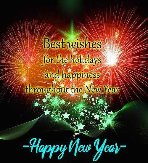 💥💝👉happy new year in advance👈💝💥🌷🌷🌷 - Best wishes for the holidays _ and happiness throughout the New Year HV - Happyllew Year - ShareChat