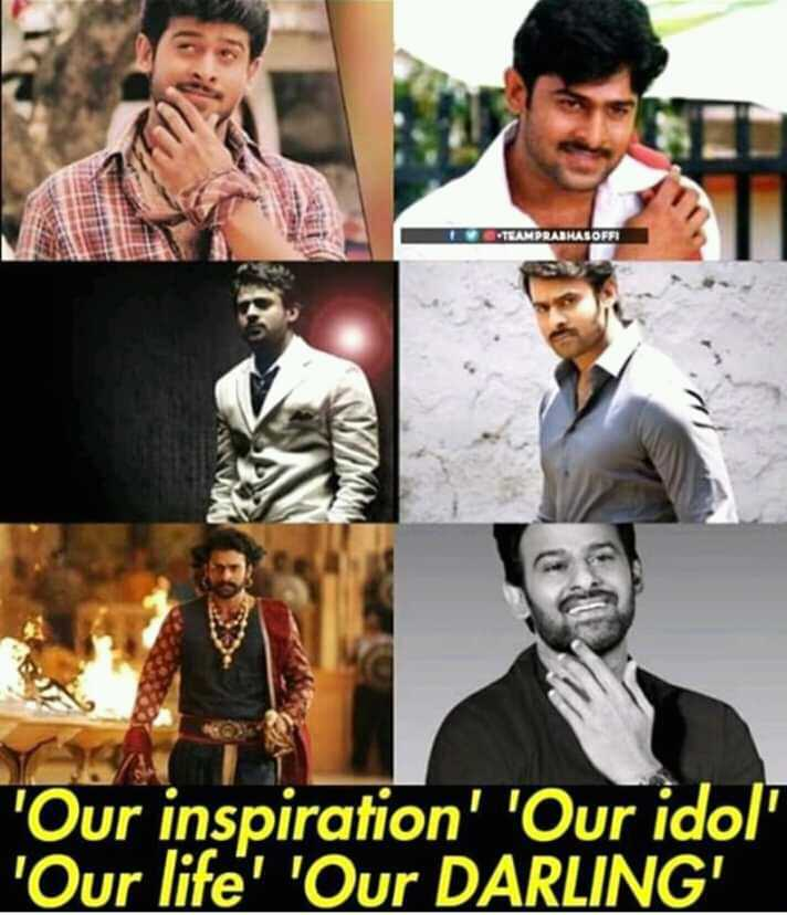 my favorite  hero - TEAMPRASHASOFT Our inspiration ' ' Our idol ' Our life ' ' Our DARLING - ShareChat