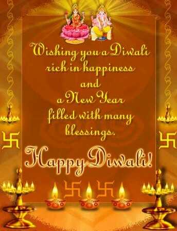 happy diwali - Son Wishing you a Diwali rich in happiness and a New Year filled with many blessings . Happy Diwali ! LATA - ShareChat