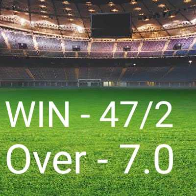 IND vs WI 2nd T20 - WIN - 47 / 2 Over - 7 . 0 - ShareChat