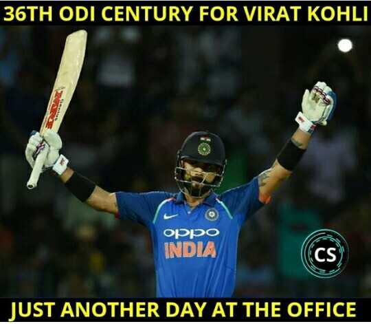 IND vs WI - 1st ODI - 36TH ODI CENTURY FOR VIRAT KOHLI סטטוס INDIA JUST ANOTHER DAY AT THE OFFICE - ShareChat
