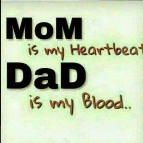 i love my mom - MOM is my Heartbeat DaD is my Blood . . - ShareChat