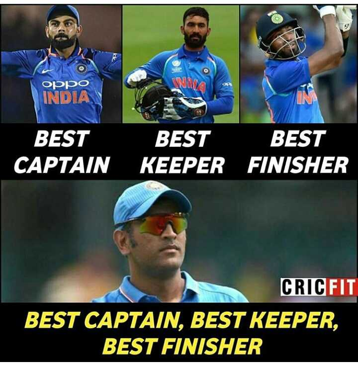 IND vs WI 1st T20 - NA OPPO INDIA BEST CAPTAIN BEST BEST KEEPER FINISHER CRICFIT BEST CAPTAIN , BEST KEEPER , BEST FINISHER - ShareChat