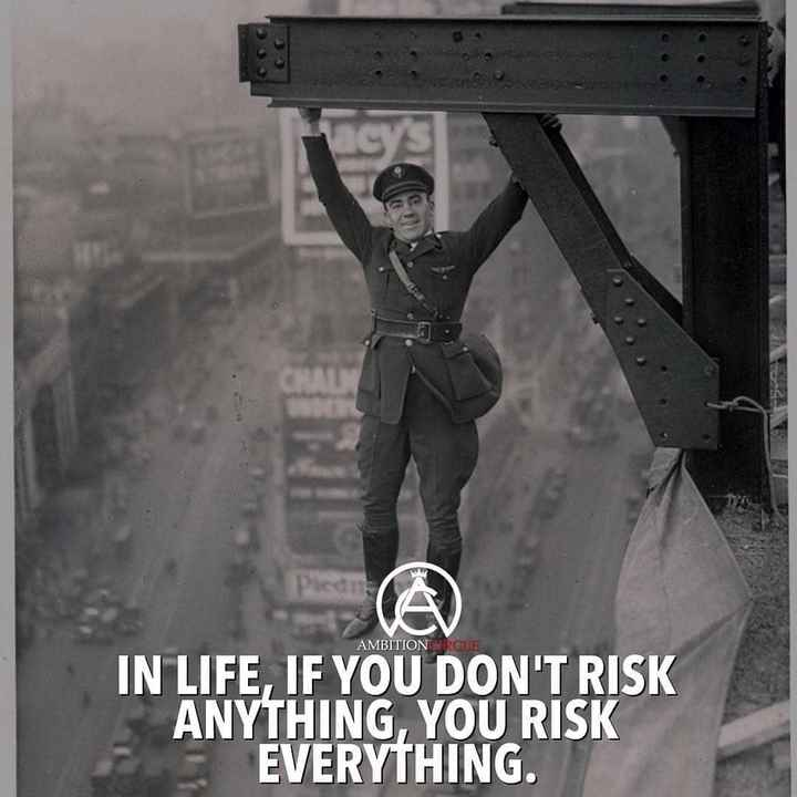 nanna anubhava - AMBITION IRCLE IN LIFE , IF YOU DON ' T RISK ANYTHING YOU RISK EVERYTHING . - ShareChat
