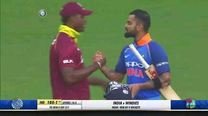 क्रिकेट......... - po IND 105 - 1 OVERS 14 . 5 TO WIN O OFF 211 INDIA WINDIES INDUA WIN BY WICKETS - ShareChat