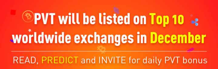 Reasoning - PVT will be listed on Top 10 : worldwide exchanges in December READ , PREDICT and INVITE for daily PVT bonus - ShareChat