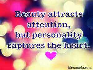 Golden quotes - Beauty attracts attention , but personality captures the heart . idreamofu . com - ShareChat