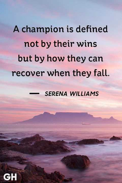 follow the good thing - A champion is defined not by their wins but by how they can recover when they fall . SERENA WILLIAMS GH - ShareChat