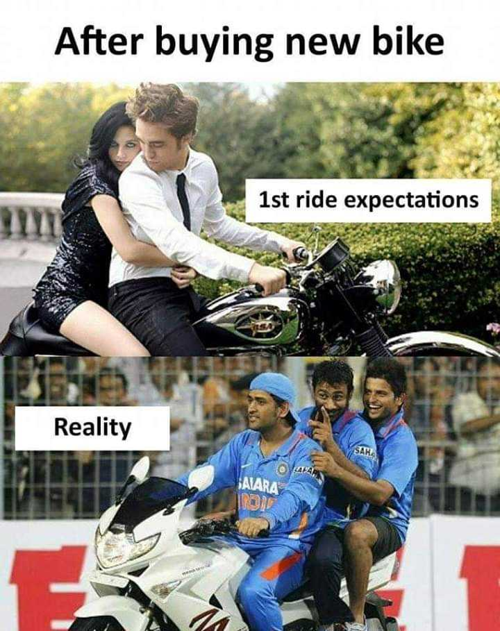 friendship band - After buying new bike 1st ride expectations Reality AARA - ShareChat