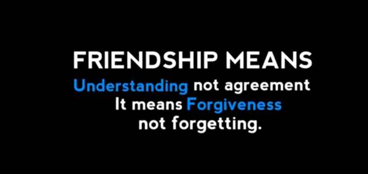 frnds special - FRIENDSHIP MEANS Understanding not agreement It means Forgiveness not forgetting . - ShareChat