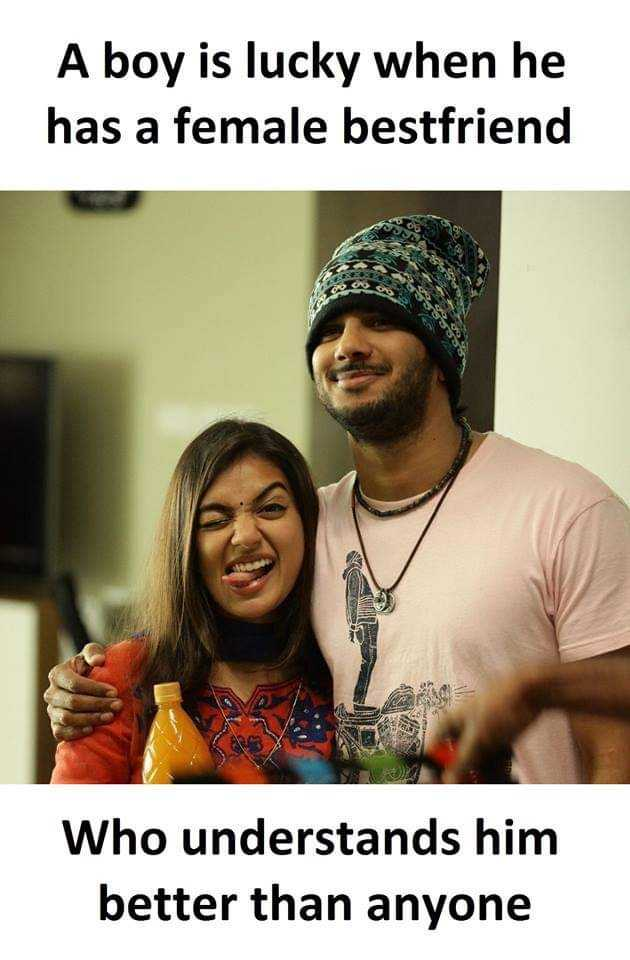 frnds special - A boy is lucky when he has a female bestfriend Who understands him better than anyone - ShareChat