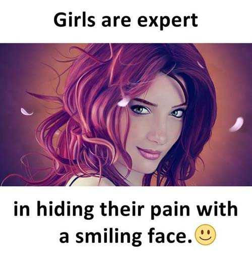 girls power.... - Girls are expert in hiding their pain with a smiling face . - ShareChat