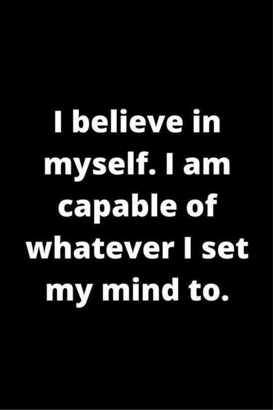 good afternoon.. - I believe in myself . I am capable of whatever I set my mind to . - ShareChat