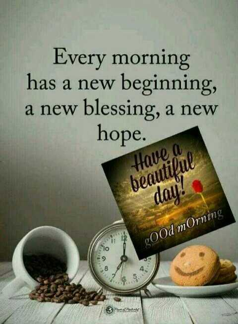 good morning 🤗👋👋👋 - Every morning has a new beginning , a new blessing , a new hope . Have a beautiful dau ? gOOd mOrning - ShareChat