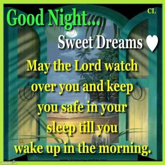 🍁🌺good night🌺🍁 - CL Good Night . ) Sweet Dreams May the Lord watch over you and keep you safe in your sleep till you wake up in the morning . imikimi . com - ShareChat