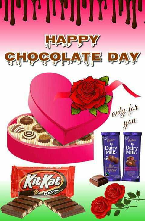 🍫happy chocolate day 🍫 - HAPPY CHOCOLATE DAY only for you NIN Dairy Dairy Milk KitKat DARK - ShareChat