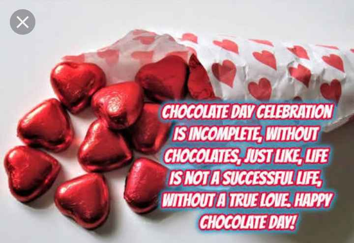 happy chocolate day 🍫🍫 - CHOCOLATE DAY CELEBRATION IS INCOMPLETE , WITHOUT CHOCOLATES , JUST LIKE , UFE IS NOT A SUCCESSFUL LIFE , WITHOUT A TRUE LOVE . HAPPY CHOCOLATE DAY ! - ShareChat