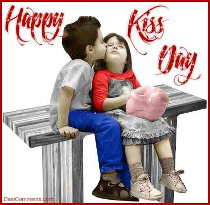happy kiss day - DesiComments . com - ShareChat